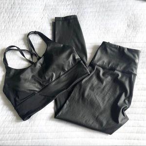 Lululemon leather like matching set